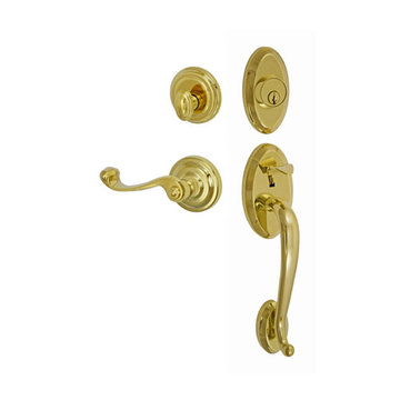 Fusion Elite Quincy Two Piece Interior Thumblatch To Ornate Lever