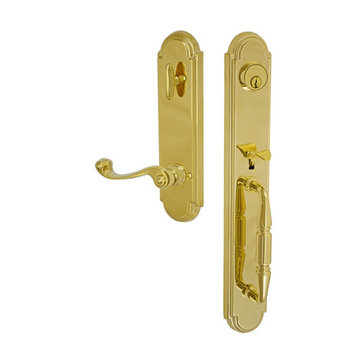 Fusion Elite Ravinia One Piece Interior Thumblatch To Ornate Lever