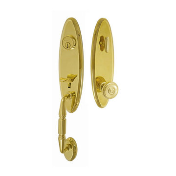 Fusion Elite Renwood One Piece Interior Thumblatch To Cambridge Knob