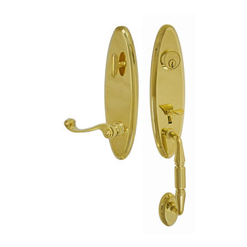 Fusion Elite Renwood One Piece Interior Thumblatch To Ornate Lever