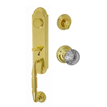 Fusion Elite Yorkshire Two Piece Dummy Interior Thumblatch To Flat Iron Glass Knob