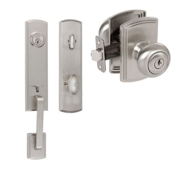Delaney Callan Grade 2 Briona Single Cylinder Thumblatch To Santo Knob Entry Set