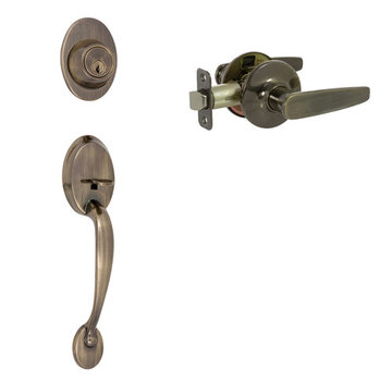 Delaney Callan Grade 3 Colton Double Cylinder Thumblatch To Asheville Lever Entry Set