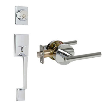 Delaney Designer Series Capri Double Cylinder Thumblatch To Cira Lever Entry Set