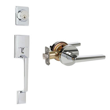 Delaney Designer Series Capri Double Cylinder Thumblatch To Vida Lever Entry Set