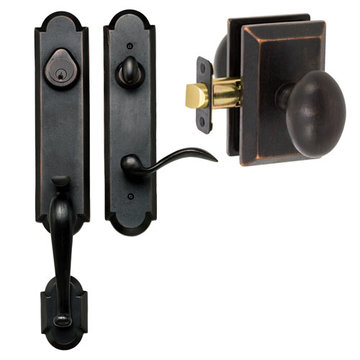 Delaney Designer Series Castille Dummy Thumblatch To Sorrento Knob Entry Set