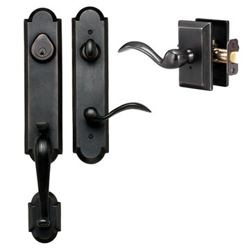 Delaney Designer Series Castille Dummy Thumblatch To Tiara Lever Entry Set