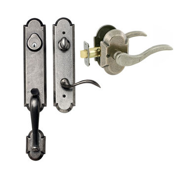 Delaney Designer Series Castille Single Cylinder Thumblatch To Ronda Lever Entry Set
