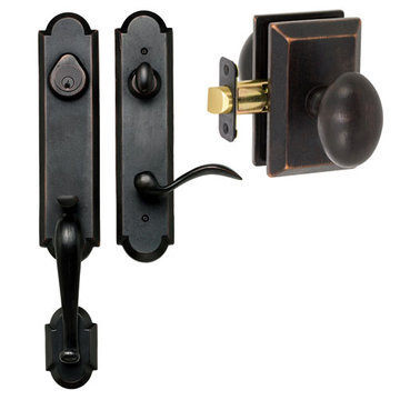 Delaney Designer Series Castille Single Cylinder Thumblatch To Sorrento Knob Entry Set