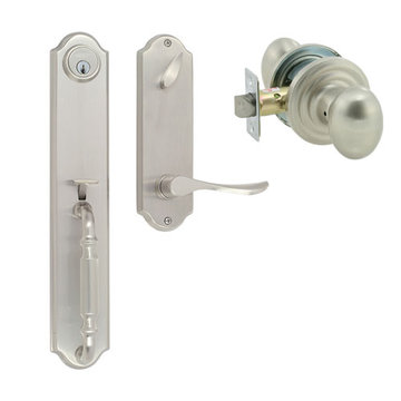 Delaney Designer Series Chateau Single Cylinder Thumblatch To Ansley Knob Entry Set