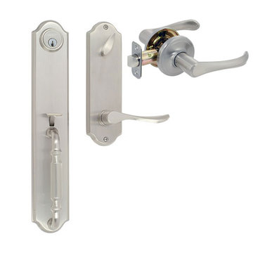 Delaney Designer Series Chateau Single Cylinder Thumblatch To Palmer Lever Entry Set