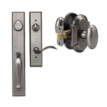 Delaney Designer Series Cordoba Single Cylinder Thumblatch To Rosa Knob Entry Set