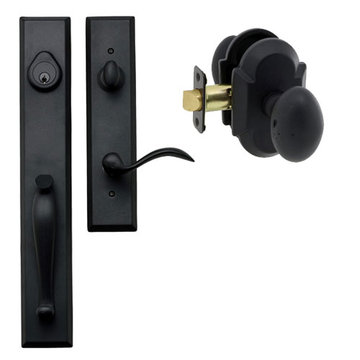 Delaney Designer Series Cordoba Single Cylinder Thumblatch To Sorrento Knob Entry Set