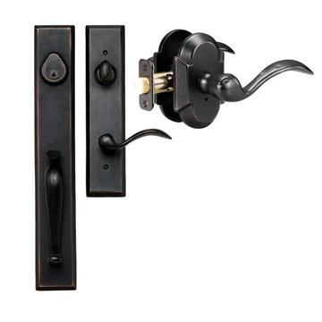 Delaney Designer Series Cordoba Single Cylinder Thumblatch To Tiara Lever Entry Set