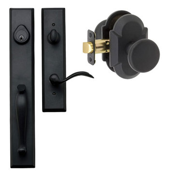 Delaney Designer Series Cordoba Single Cylinder Thumblatch To Tulum Knob Entry Set