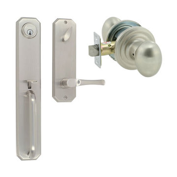 Delaney Designer Series Hampton Single Cylinder Thumblatch To Ansley Knob Entry Set