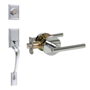 Delaney Designer Series Kellington Double Cylinder Thumblatch To Cira Lever Entry Set
