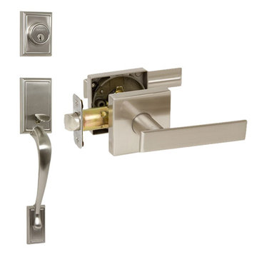 Delaney Designer Series Kellington Double Cylinder Thumblatch To Kira Lever Entry Set