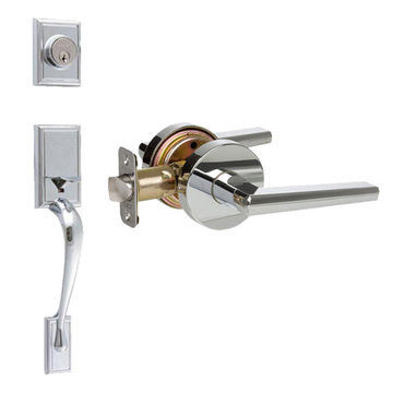 Delaney Designer Series Kellington Double Cylinder Thumblatch To Vida Lever Entry Set