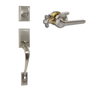 Delaney Designer Series Kellington Dummy Thumblatch To Vida Lever Entry Set
