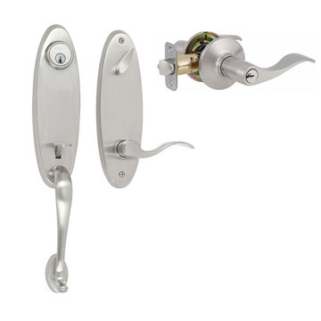 Delaney Designer Series Richmond Double Cylinder Thumblatch To Royal Lever Entry Set