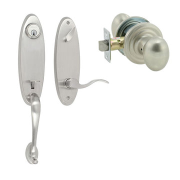 Delaney Designer Series Richmond Dummy Thumblatch To Ansley Knob Entry Set