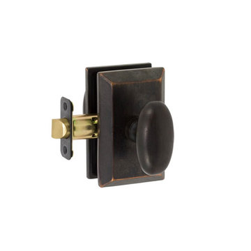 Delaney Designer Series Rosa Square Backplate Passage Knob Set