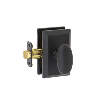 Delaney Designer Series Rosa Square Backplate Privacy Knob Set