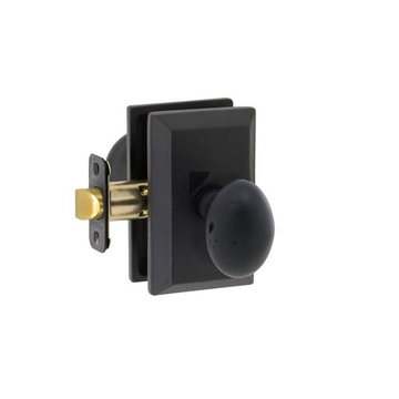 Delaney Designer Series Sorrento Square Backplate Entry Knob Set