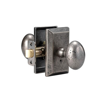 Delaney Designer Series Sorrento Square Backplate Privacy Knob Set