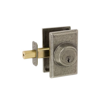 Delaney Designer Series Square Sandcast Double Cylinder Deadbolt