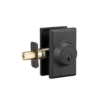 Delaney Designer Series Square Sandcast Single Cylinder Deadbolt