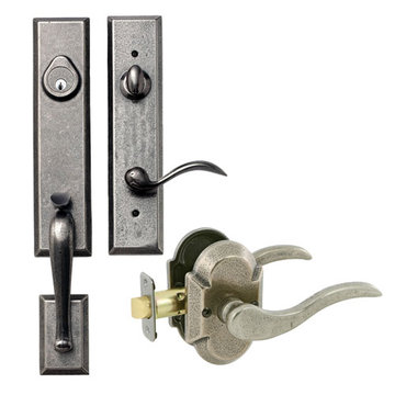 Delaney Designer Series Stonehenge Dummy Thumblatch To Ronda Lever Entry Set