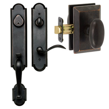 Delaney Designer Series Stonehenge Dummy Thumblatch To Rosa Knob Entry Set