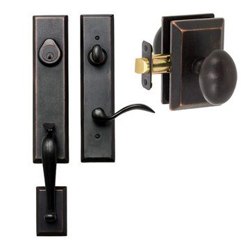 Delaney Designer Series Stonehenge Dummy Thumblatch To Sorrento Knob Entry Set