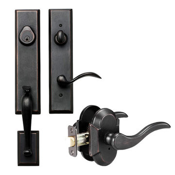 Delaney Designer Series Stonehenge Single Cylinder Thumblatch To Ronda Lever Entry Set