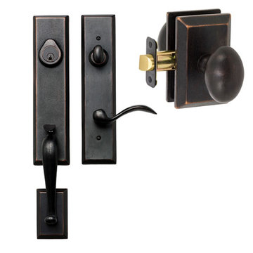 Delaney Designer Series Stonehenge Single Cylinder Thumblatch To Sorrento Knob Entry Set