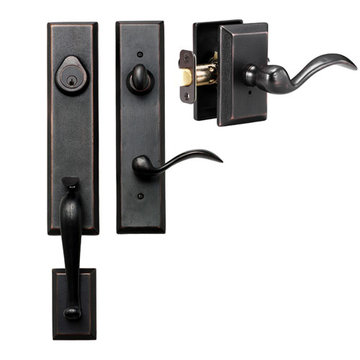 Delaney Designer Series Stonehenge Single Cylinder Thumblatch To Tiara Lever Entry Set