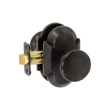 Delaney Designer Series Tuscan Curved Backplate Entry Knob Set