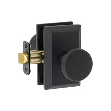 Delaney Designer Series Tuscan Square Backplate Entry Knob Set