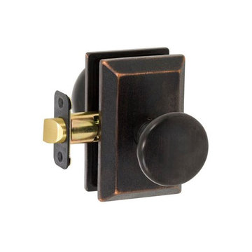 Delaney Designer Series Tuscan Square Backplate Privacy Knob Set