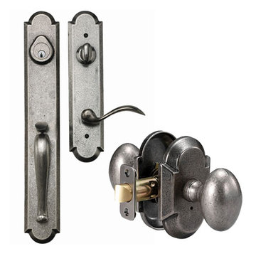 Delaney Designer Series Valero Dummy Thumblatch To Sorrento Knob Entry Set
