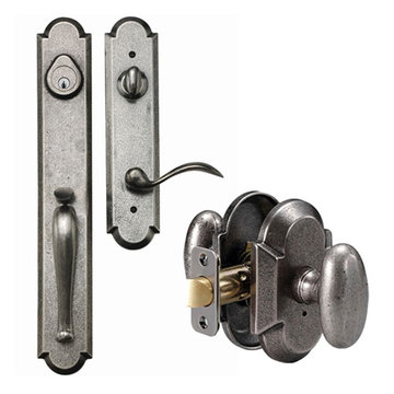 Delaney Designer Series Valero Single Cylinder Thumblatch To Rosa Knob Entry Set