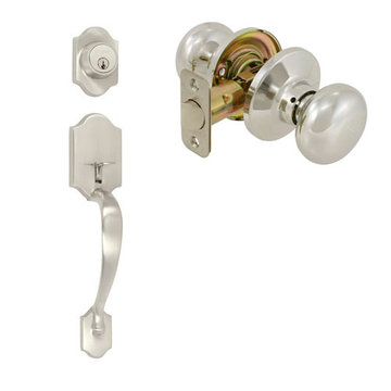 Delaney Ezset Imperial Residential Double Cylinder Thumblatch To Olympus Knob Entry Set