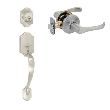 Delaney Ezset Imperial Residential Double Cylinder Thumblatch To Palmer Lever Entry Set