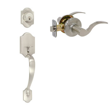 Delaney Ezset Imperial Residential Double Cylinder Thumblatch To Shelby Lever Entry Set