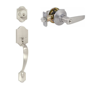 Delaney Ezset Imperial Residential Single Cylinder Thumblatch To Manhattan Lever Entry Set