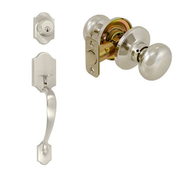 Delaney Ezset Imperial Residential Single Cylinder Thumblatch To Olympus Knob Entry Set