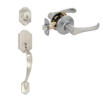 Delaney Ezset Imperial Residential Single Cylinder Thumblatch To Palmer Lever Entry Set