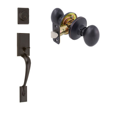Delaney Ezset Kellington Residential Double Cylinder Thumblatch To Bala Knob Entry Set